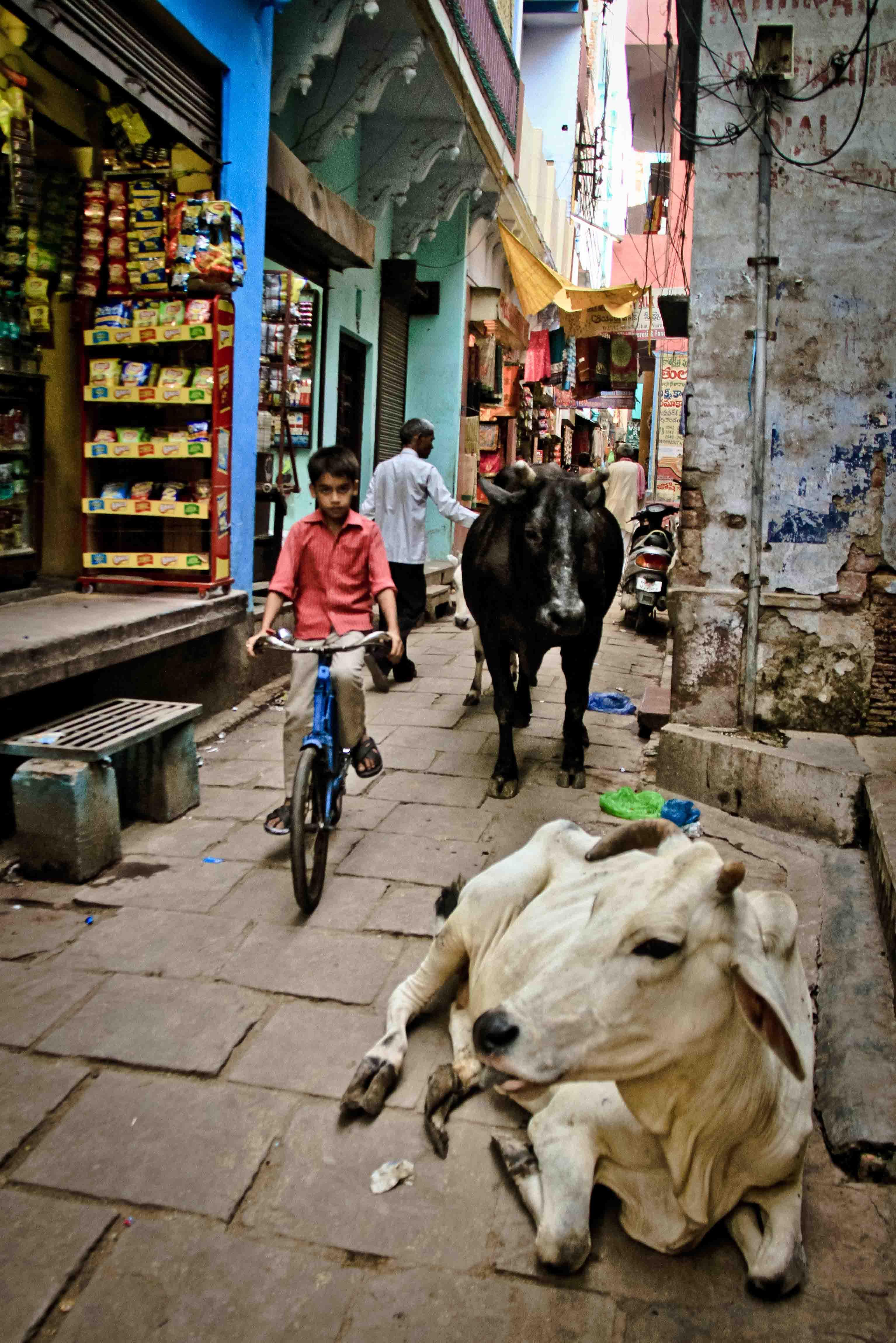 Callejones de Varanasi.