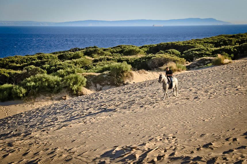 Paseo a caballo por la duna de Tarifa