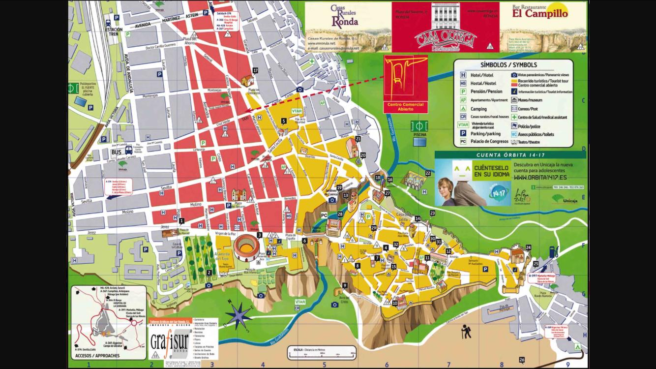 Mapa de Ronda