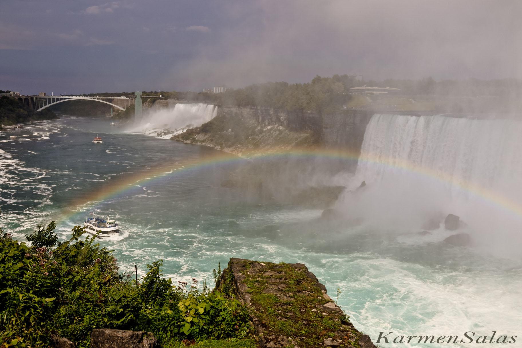 Vistas de las cataratas desde Canadá