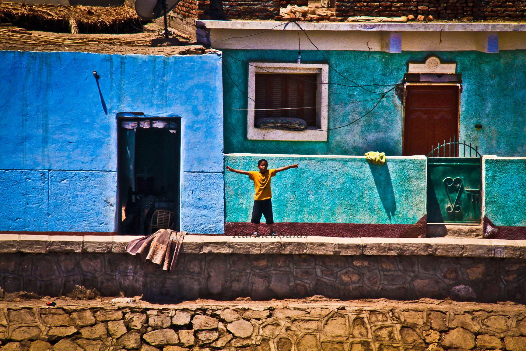 Casas a orillas del Nilo