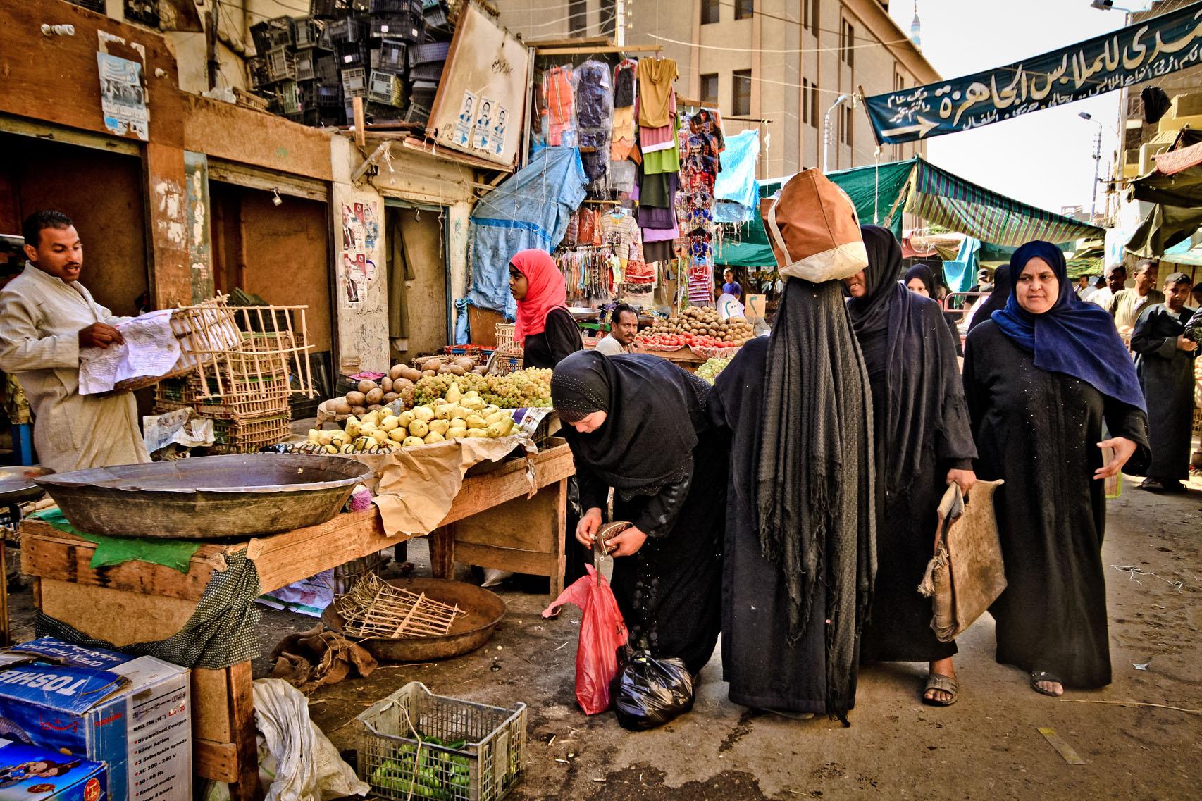 Mercado en Egipto