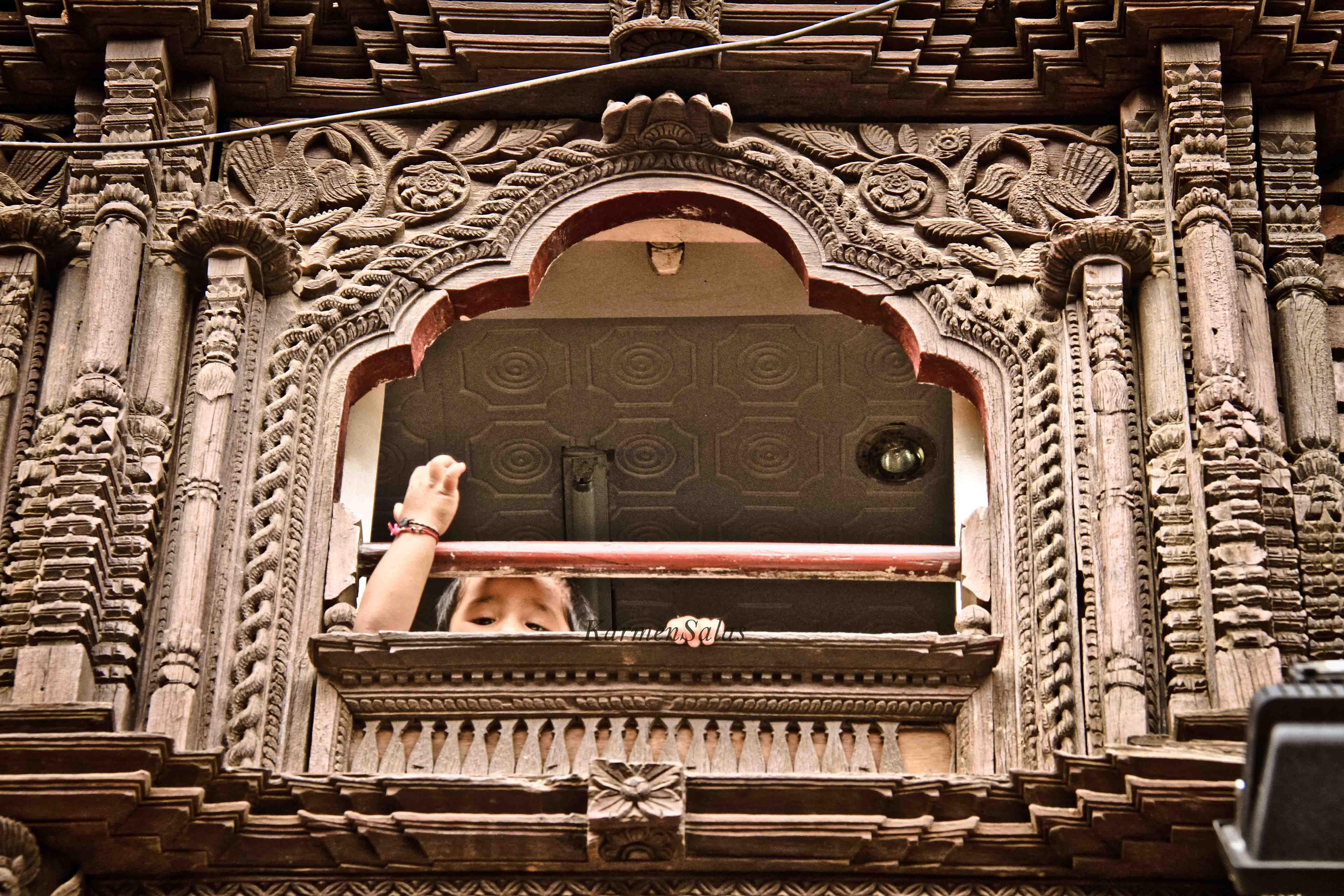 Ventanas talladas, Katmandú